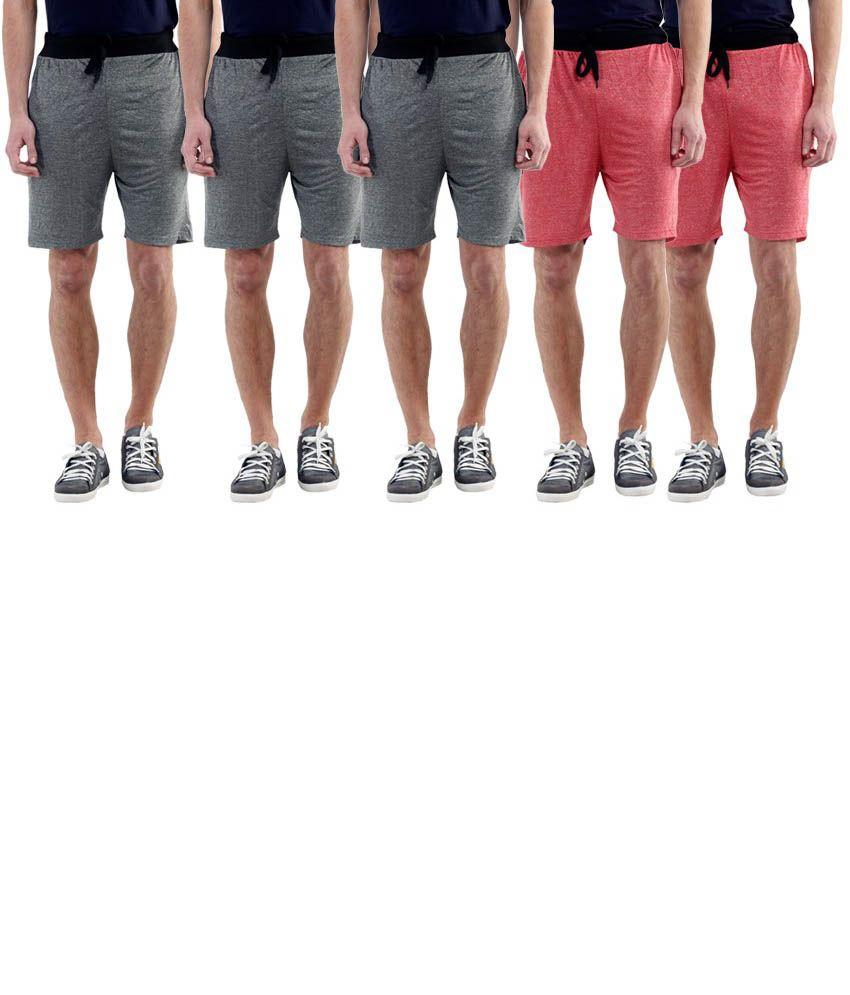 Billu Oye Grey Shorts Pack of 5