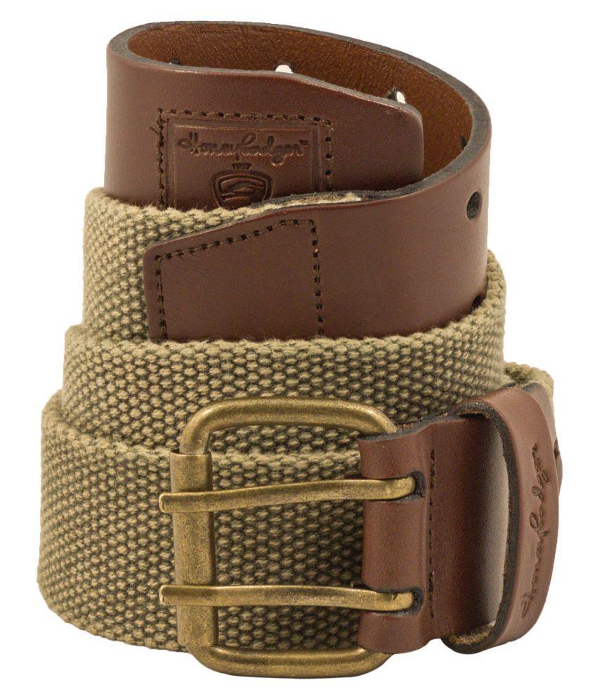 HoneyBadger Green Leather Belt For Men