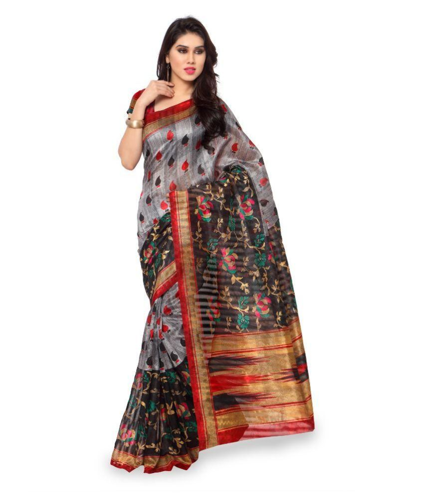 Manpasand Creations Multicoloured Art Silk Saree