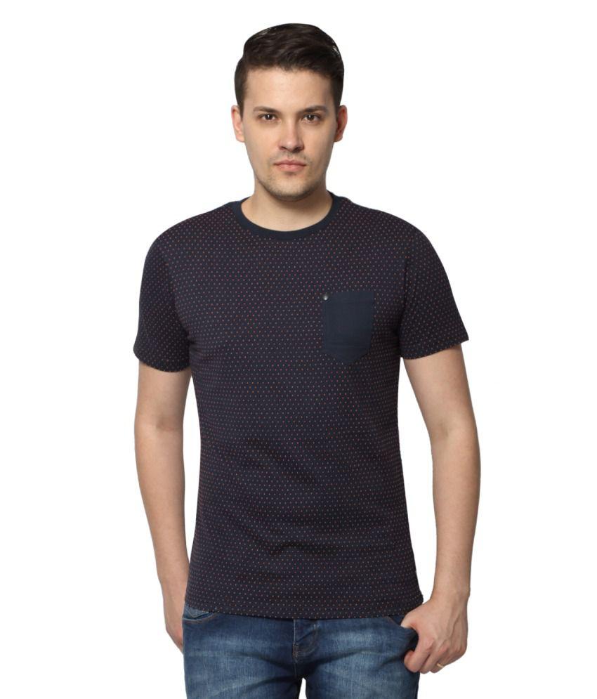 883 Police Navy Round T Shirt