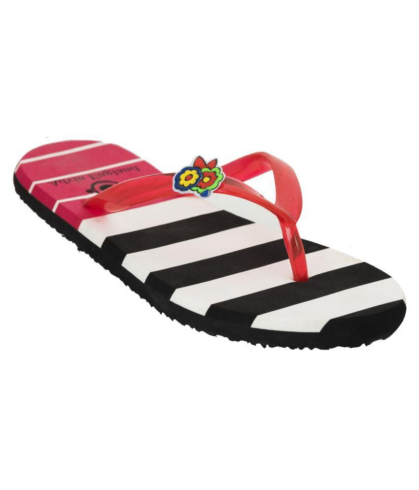 Advin England Red Flip Flops