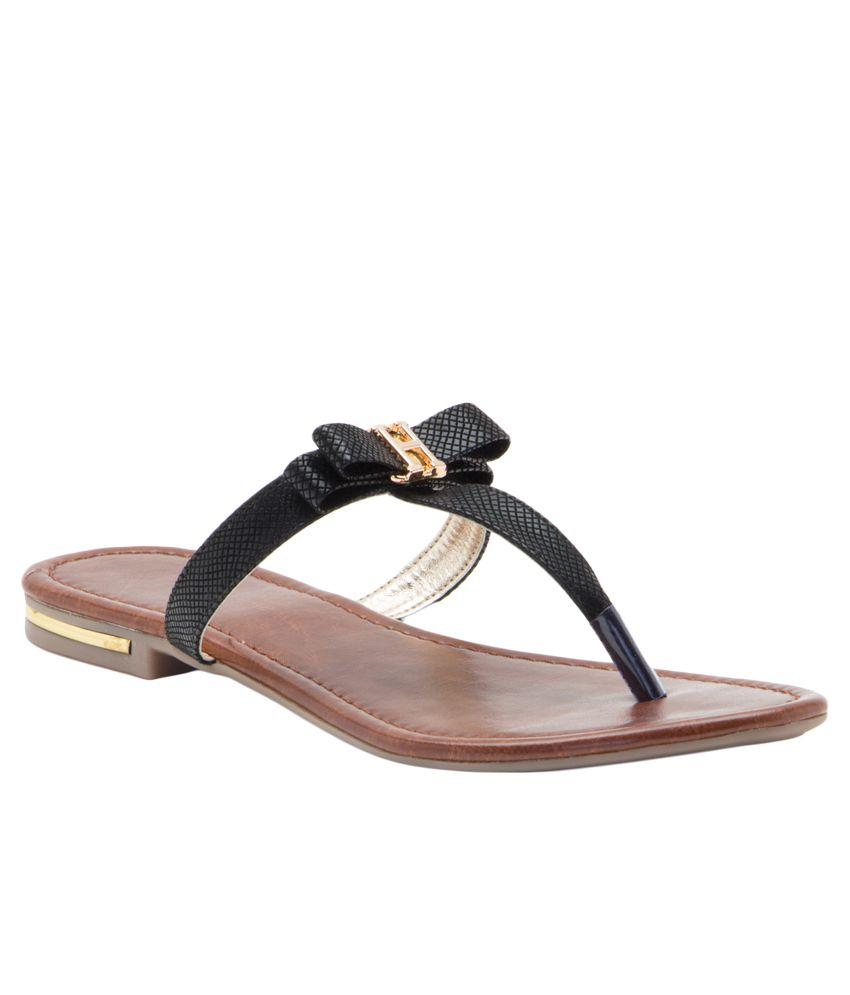 Aleta Black Flat Slip-Ons