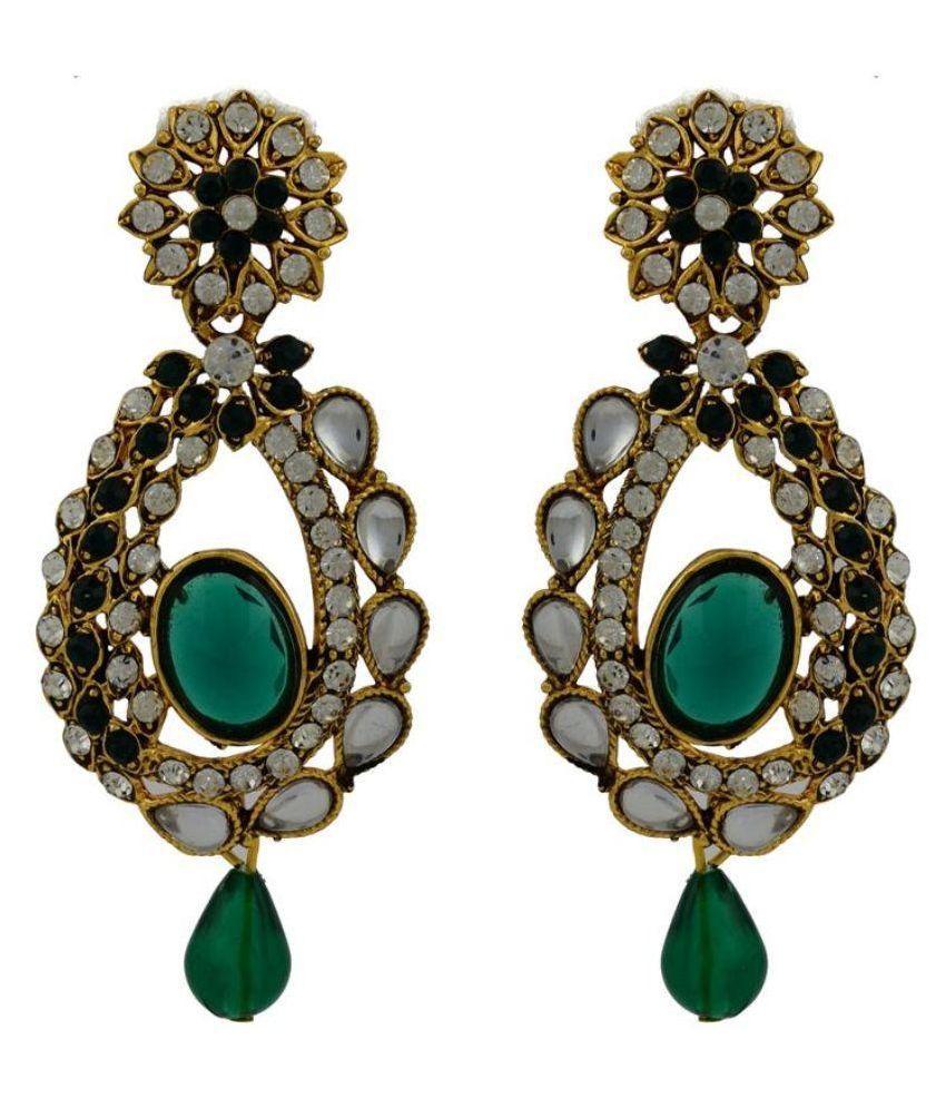 High Trendz Multicolour Alloy Hanging Earrings