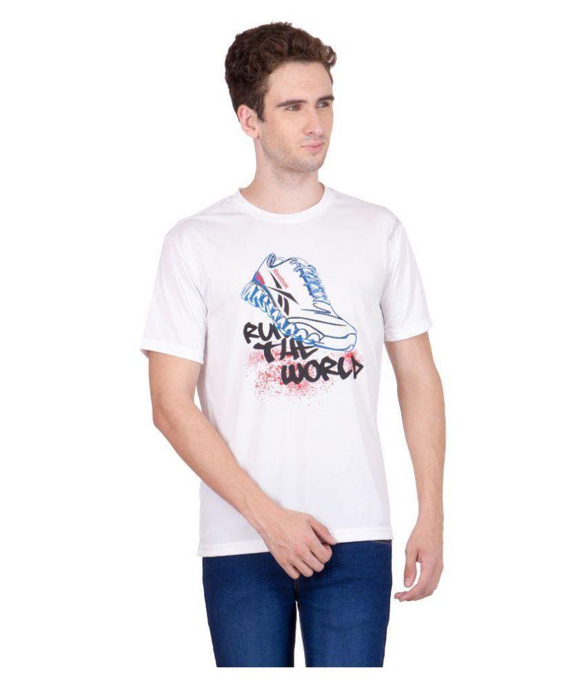 Reebok White Round T Shirt