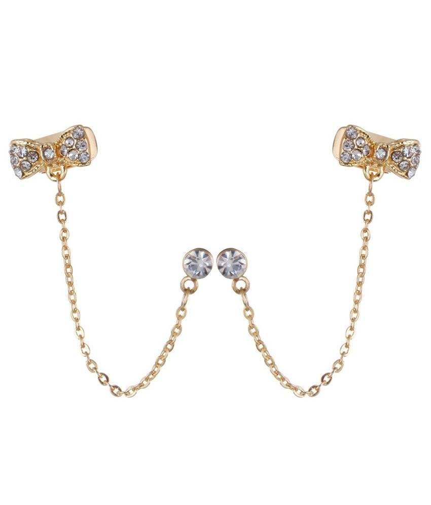 Fayon Alloy Studded Golden Coloured Earrings