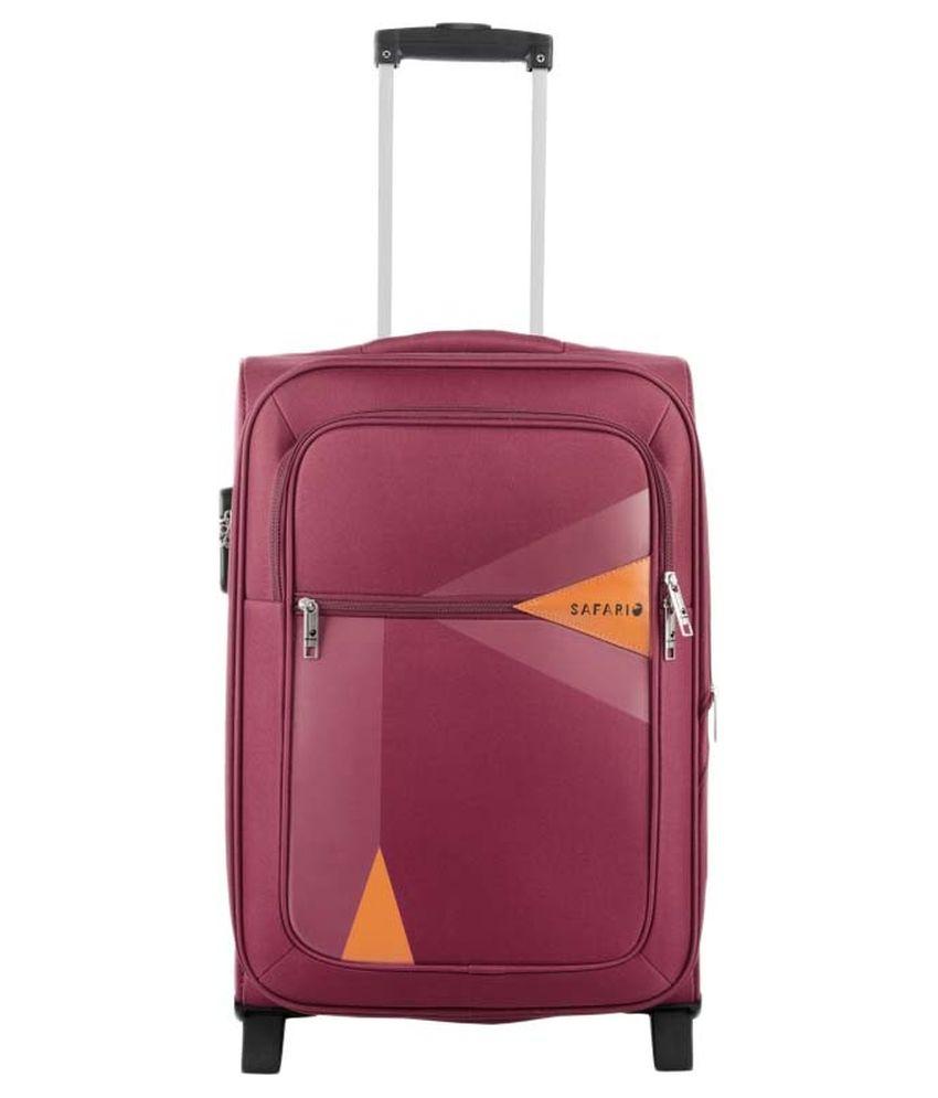 Safari Large (70 Cm & Above) 2 Wheel Soft Red Arrow Luggage Trolley