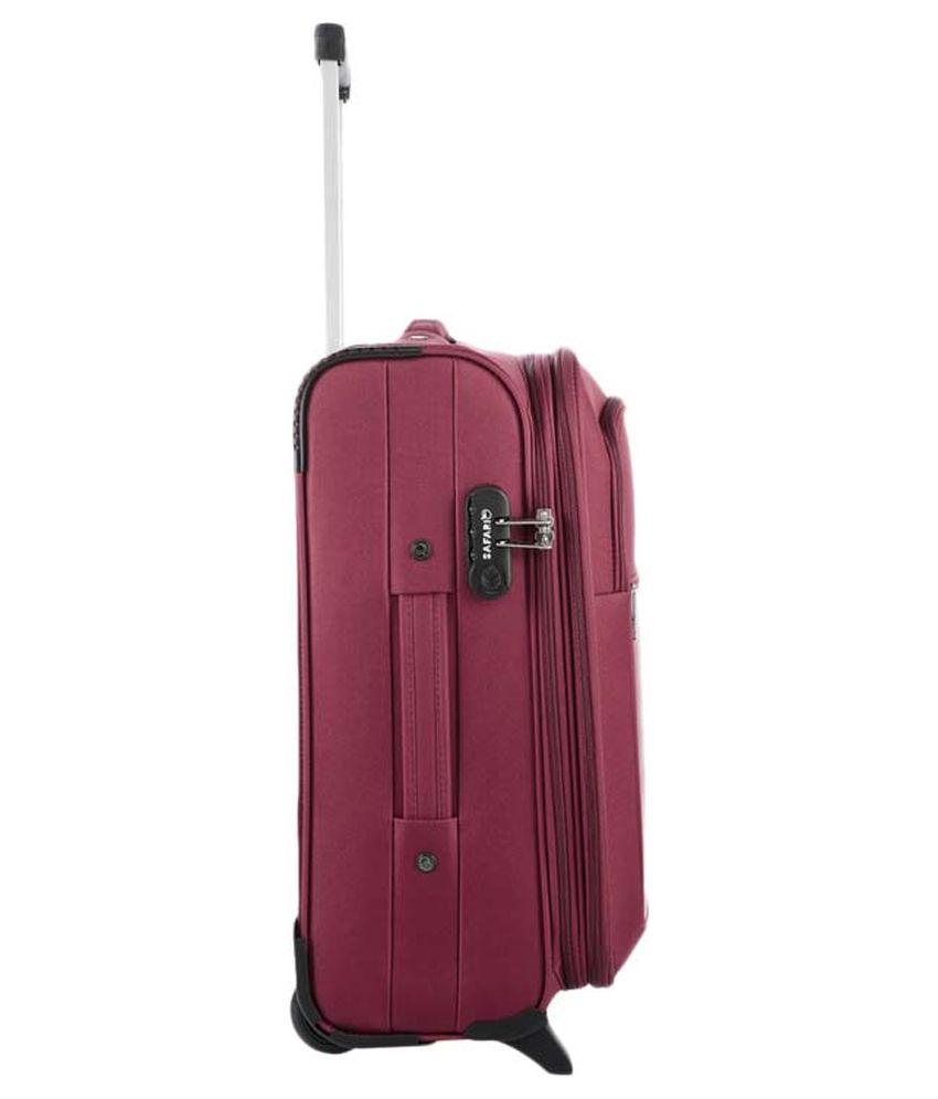 cecb1b2fa5c ... Safari Medium (61Cm-69Cm) 2 Wheel Soft Red Arrow Luggage Trolley ...