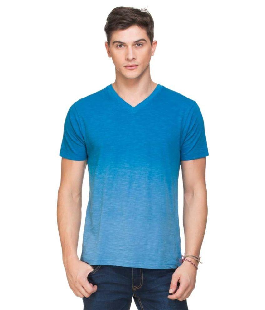 Zovi Blue V-Neck T Shirt