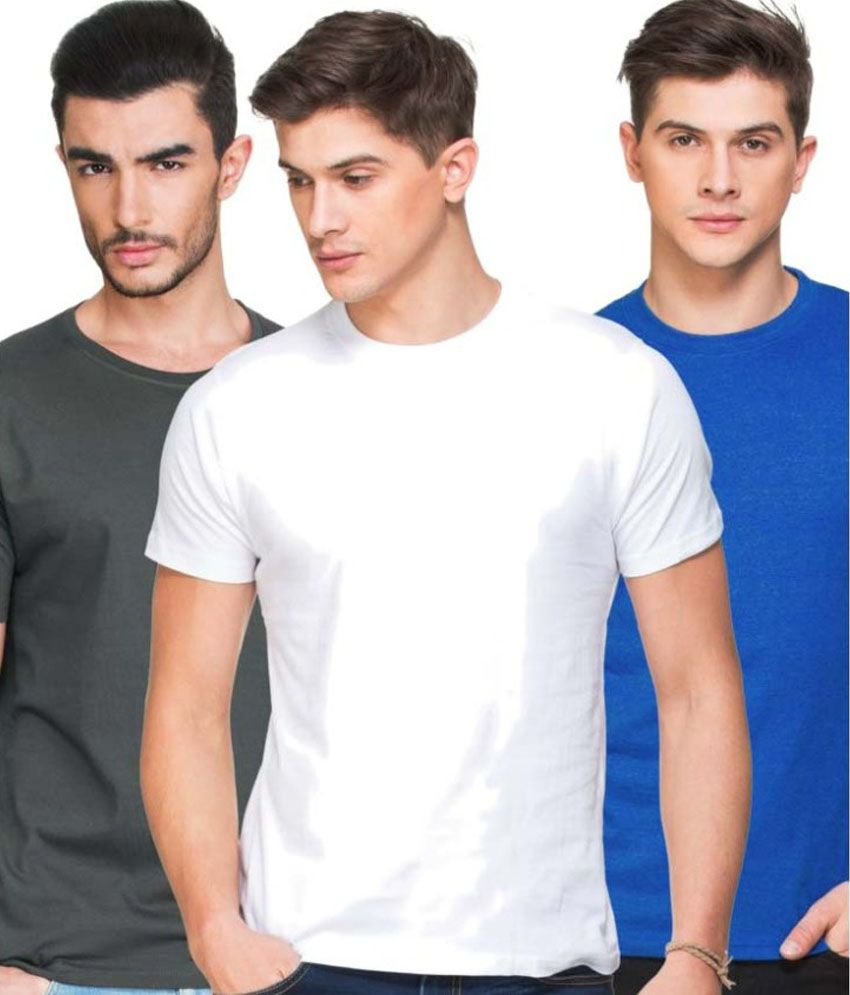 Zovi Multi Round T Shirt Pack of 3