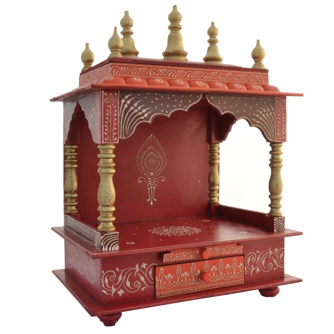 Jodhpur Handicrafts Red Wood Hanging Mandir Buy Jodhpur Handicrafts Red Wood Hanging Mandir At