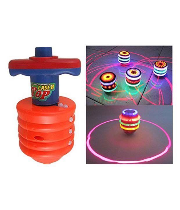 Slick Laser Spinning Top With Led Light And Laser Toy