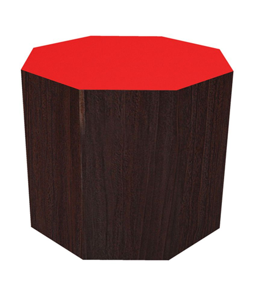 Angel Kansas Non Storage Hexagon End Table in Orange 16 Inch