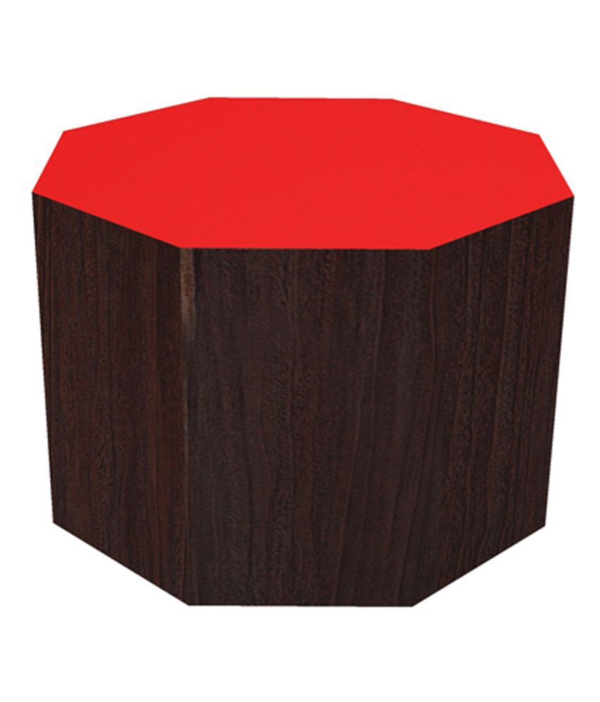 Angel Non Storage Hexagon End Table in Orange 12 Inch