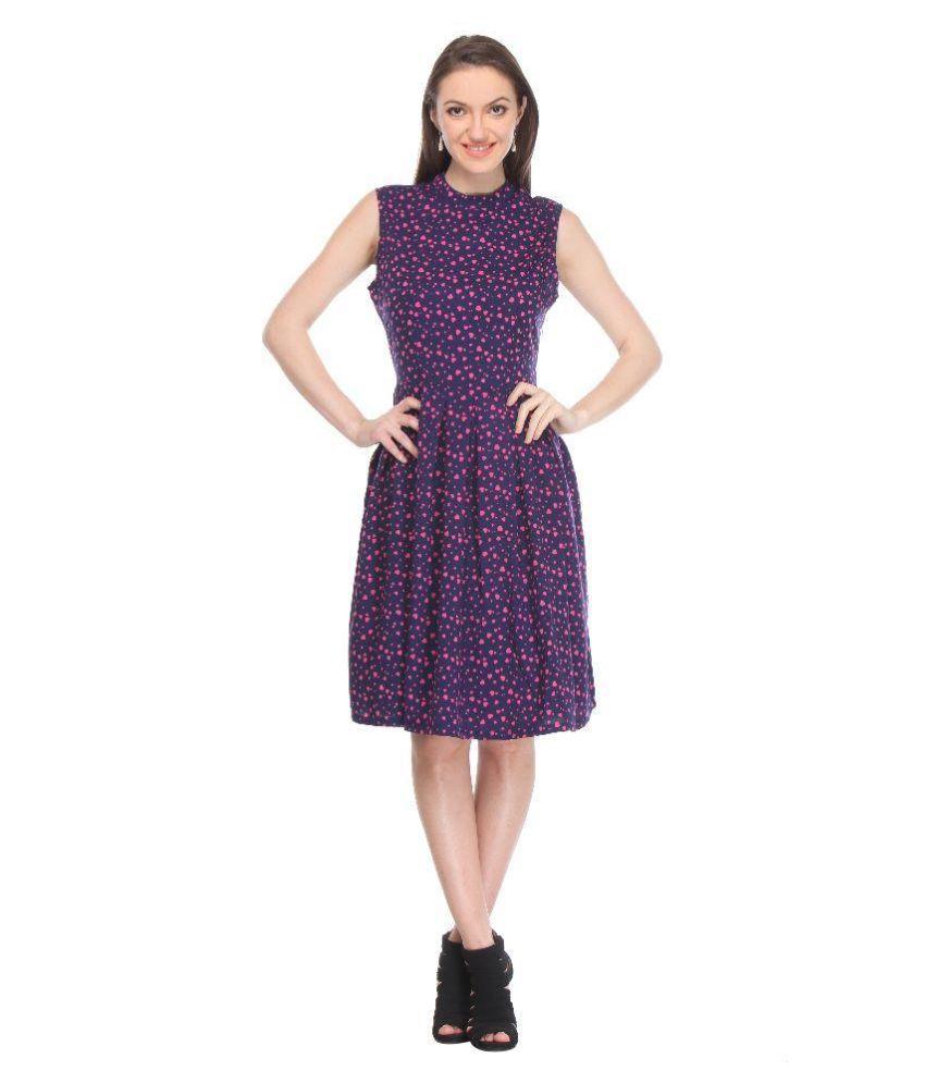 FYF Purple Crepe Dresses