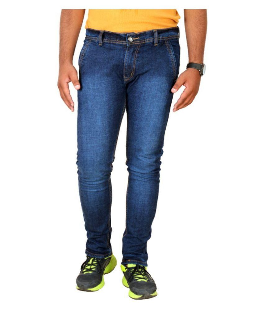 Shade-X Blue Slim Fit Washed Jeans