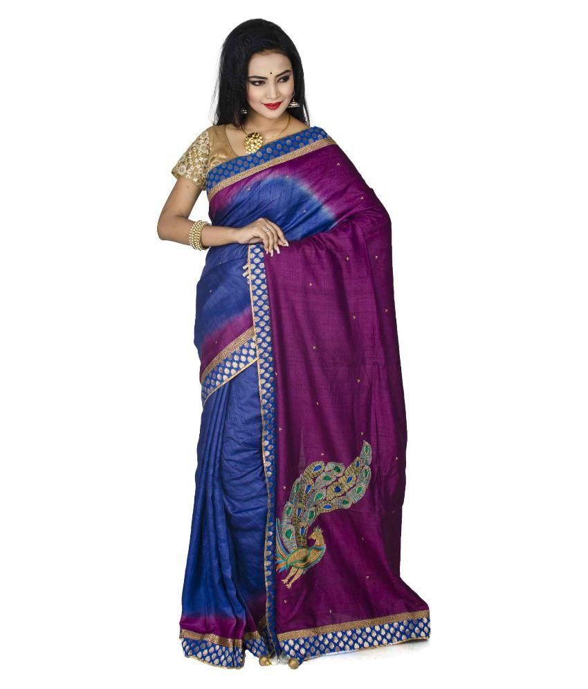 Darbari Multicoloured Tussar Silk Saree