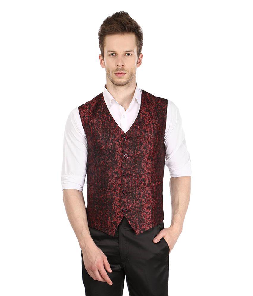 Platinum Studio Maroon Party Waistcoats