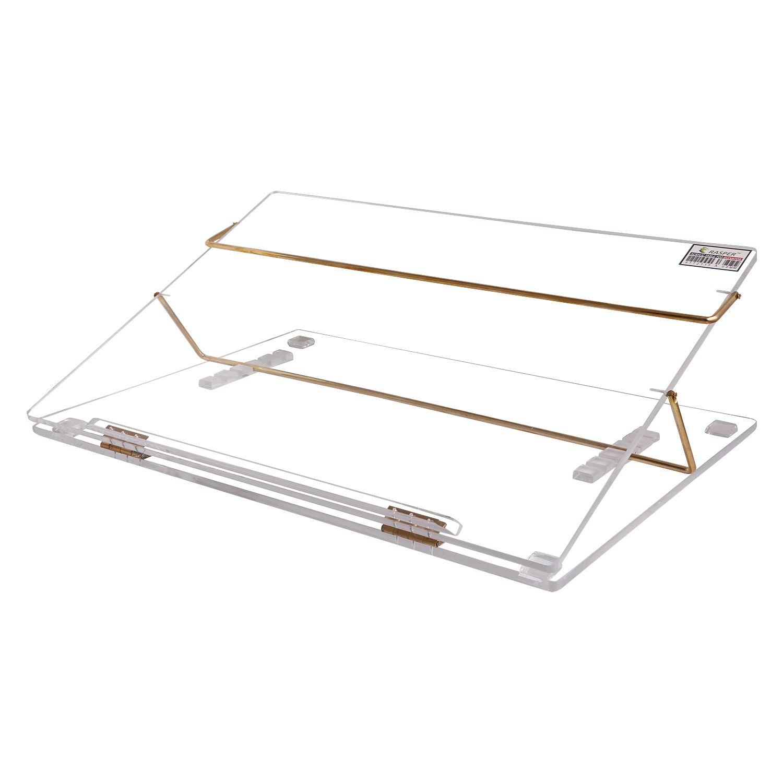 Rasper Clear Acrylic Writing Desk Standard Size 21x15 Premium