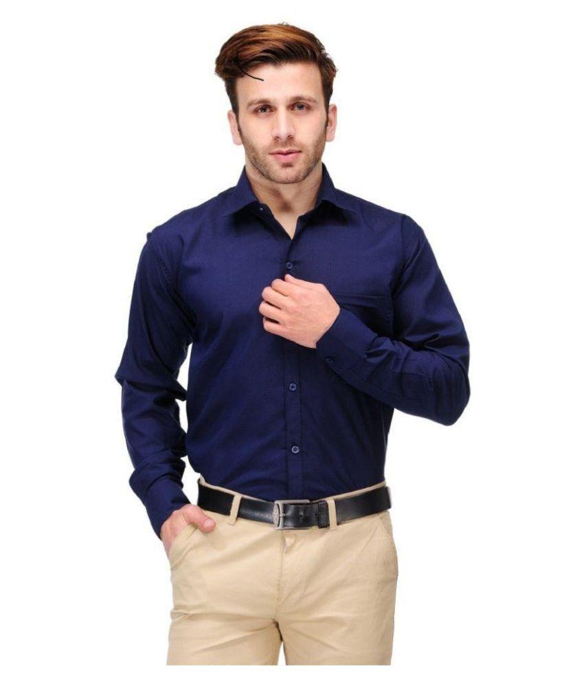 Unique for men navy formal slim fit shirt buy unique for for Fitness shirts for men