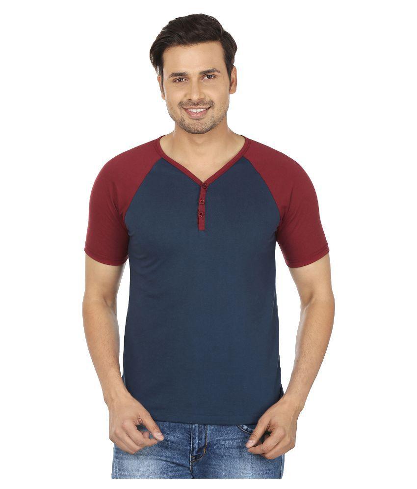 Jangoboy Navy V-Neck T Shirt