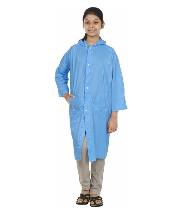 Inside Fashion Blue Viscose Rainwear