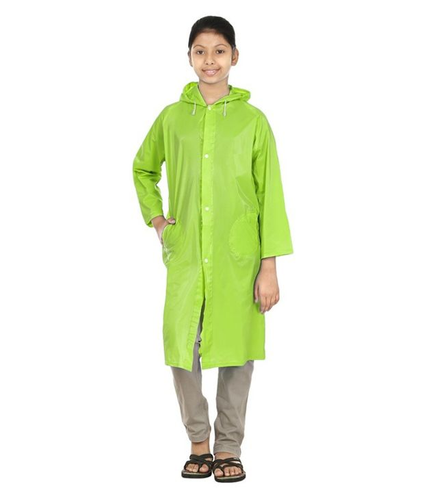 Inside Fashion Green Viscose Rainwear