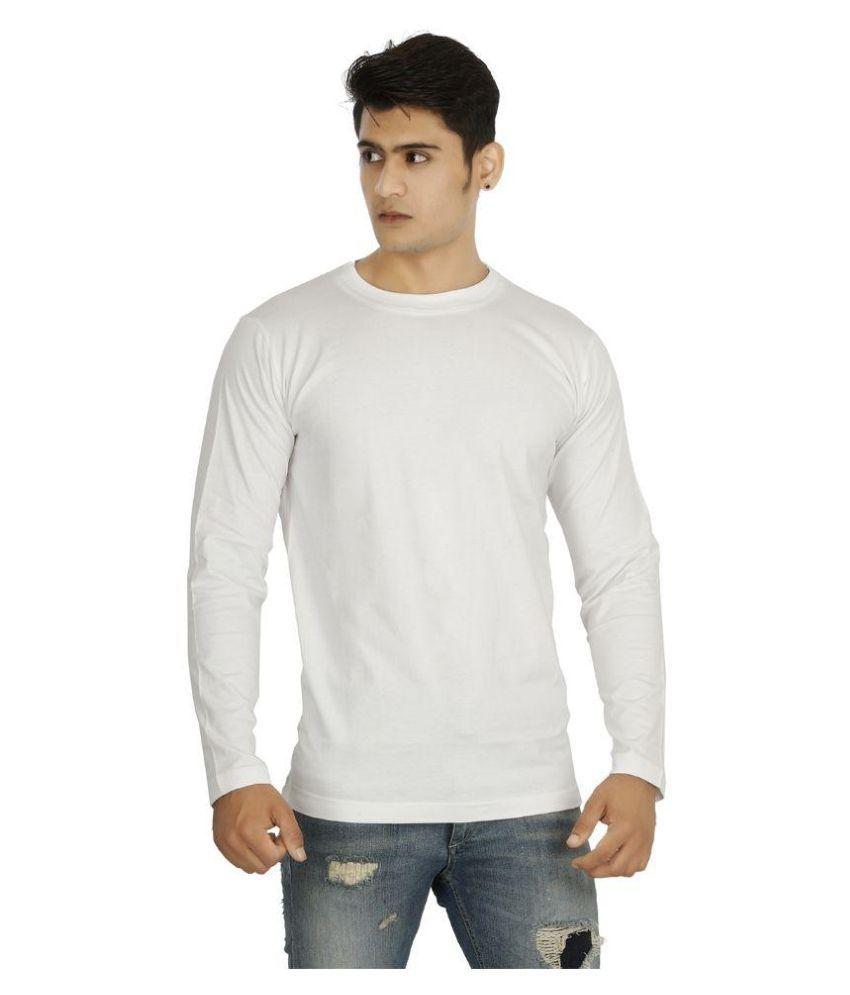 Attitude White Round T Shirt