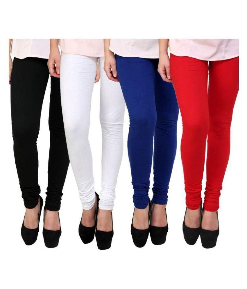 Hunar Garments Multicoloured Cotton Lycra Leggings