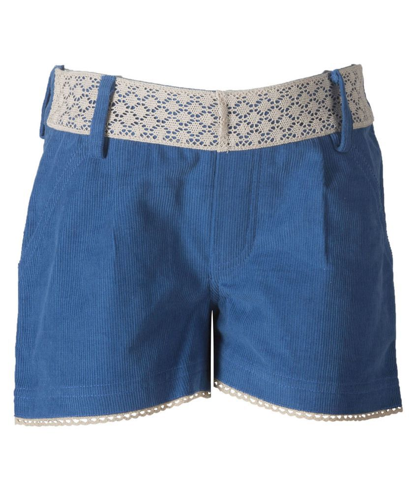 Naughty Ninos Blue Cotton Shorts for Girls