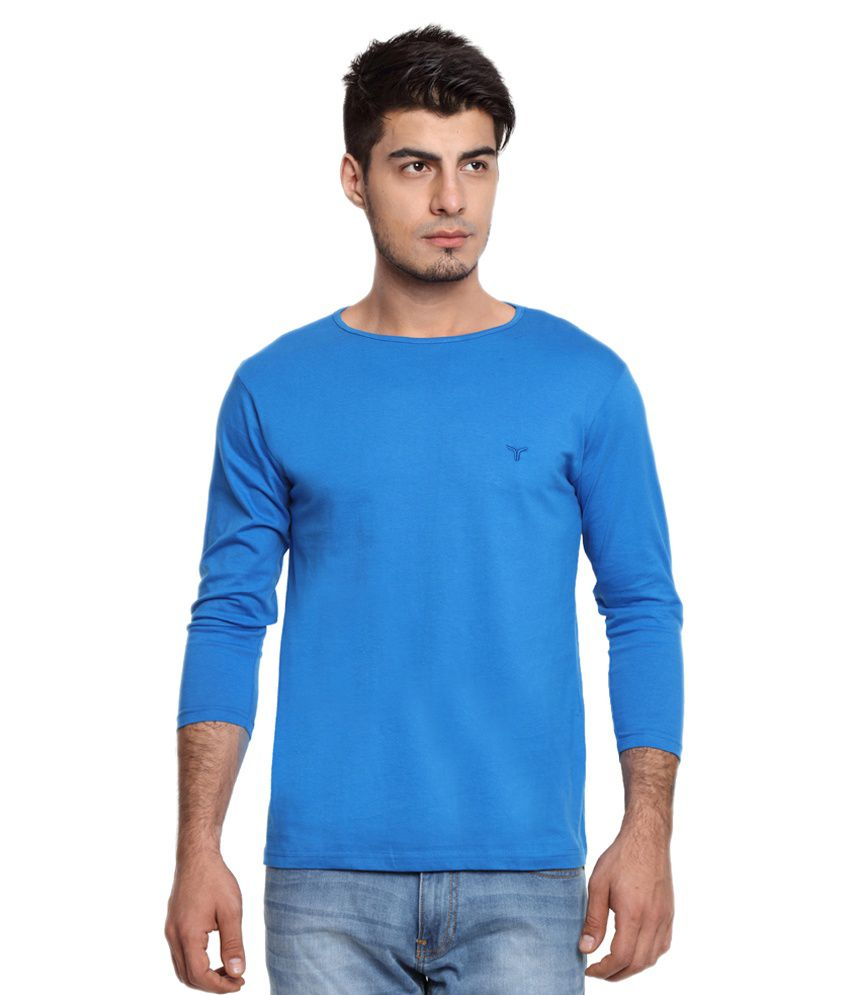 Youthen Blue Round T Shirt