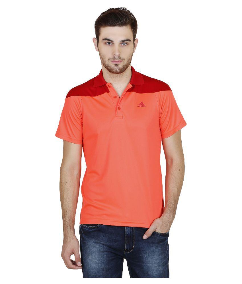 Adidas Orange Polo T Shirts