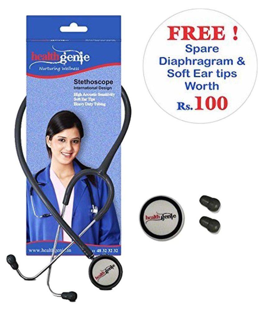Healthgenie HG-201G Dual Aluminum Non Chill Stethoscope 65 cm Cardiology