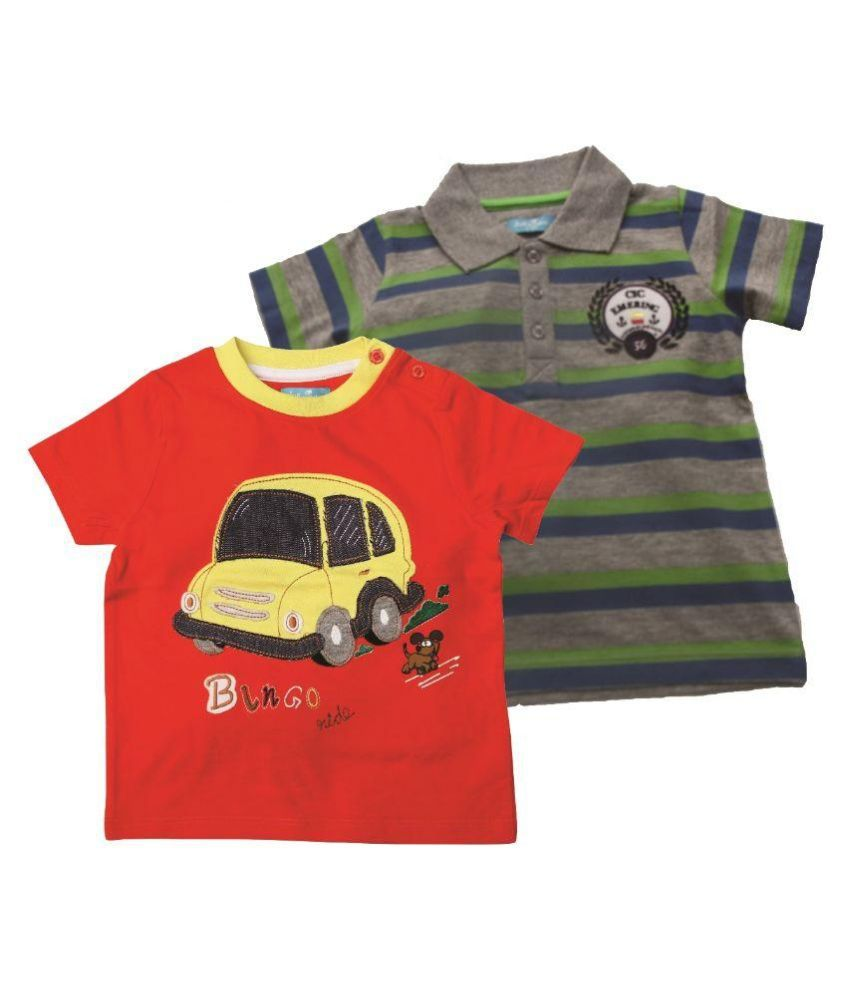 Juscubs Multicolor Cotton T-Shirts Pack of 2