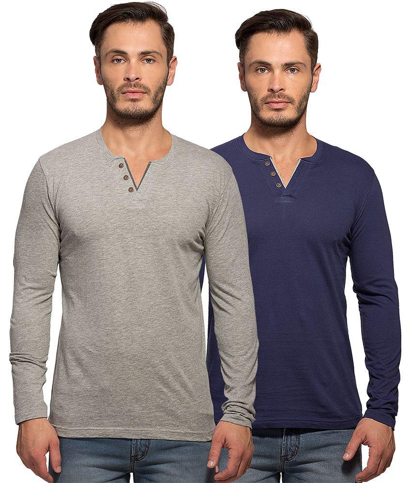 Maniac Multi Henley T Shirt