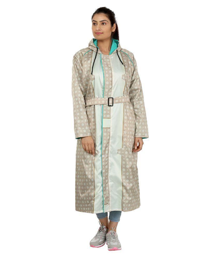 Rainfun Multi Color Polyester Long Raincoat
