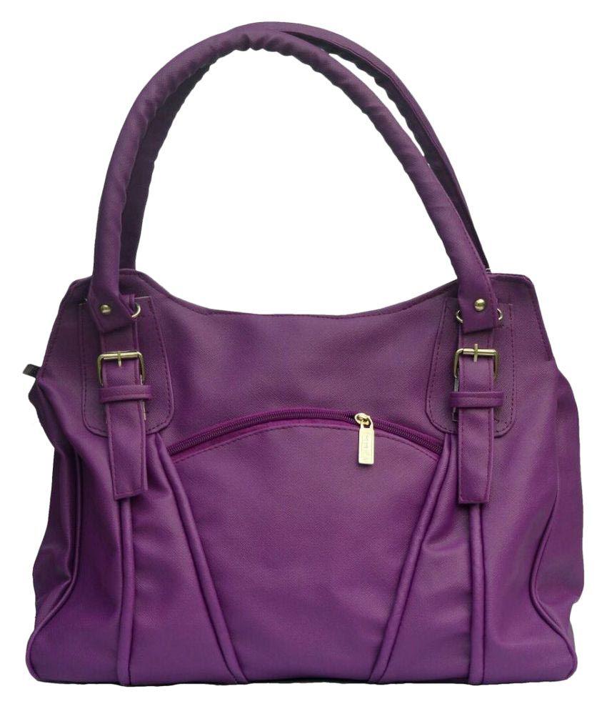 Cottage Purple P.U. Shoulder Bag
