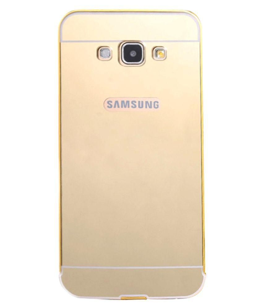 premium selection c3c24 dbb89 Mirror Back Cover for Samsung Galaxy J3-Gold