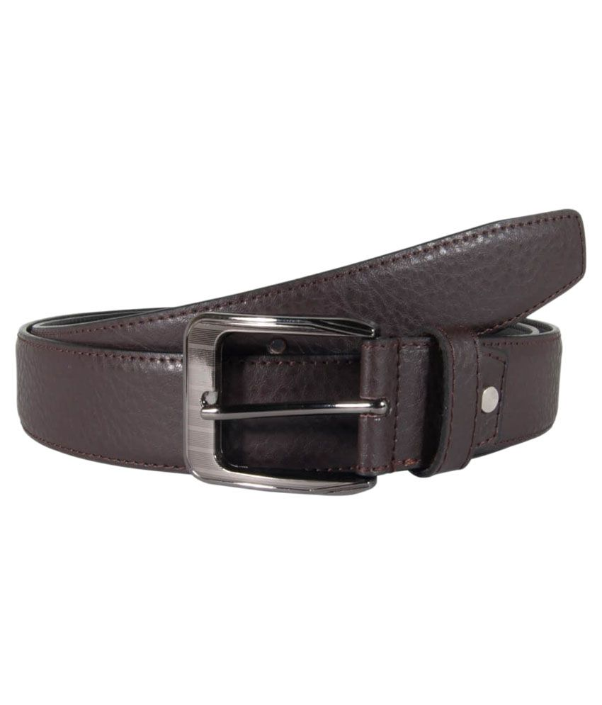 Snoby Brown Formal Belt for Men