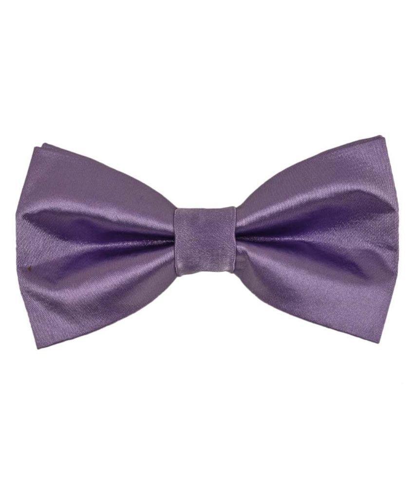 Tiekart Purple Polyester Bow Tie for Men