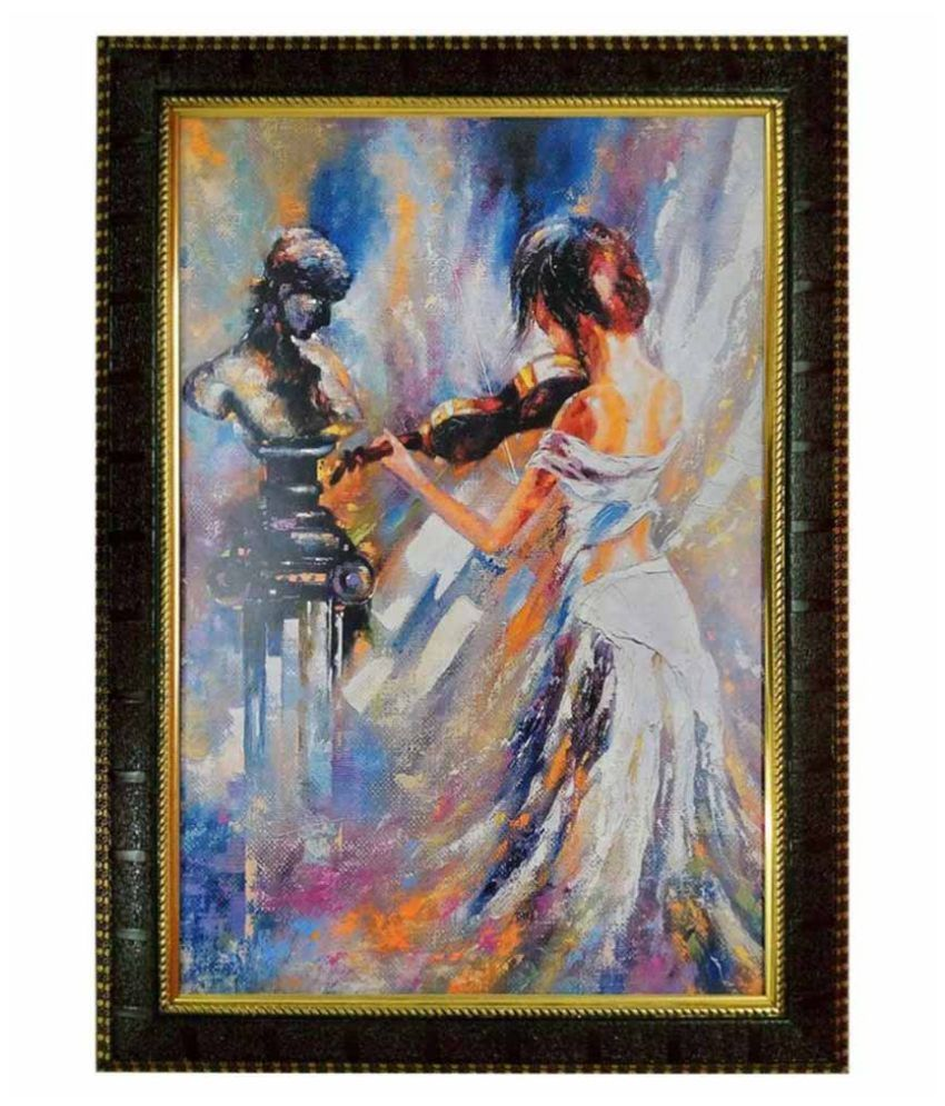 Trends on Wall Abstract Painting with Frame