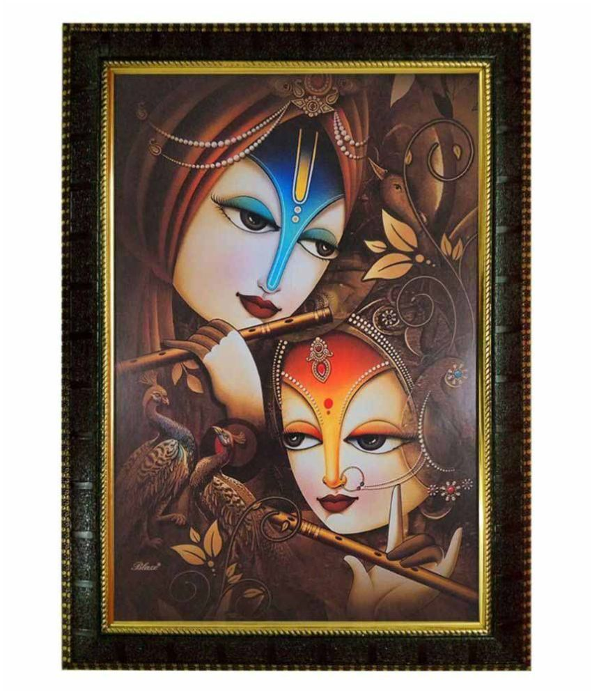 Trends on Wall Radha Krishna Painting with Frame