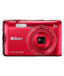 Nikon Coolpix A300 Digital Camera Red
