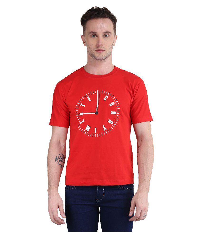 British Terminal Red Round T Shirt