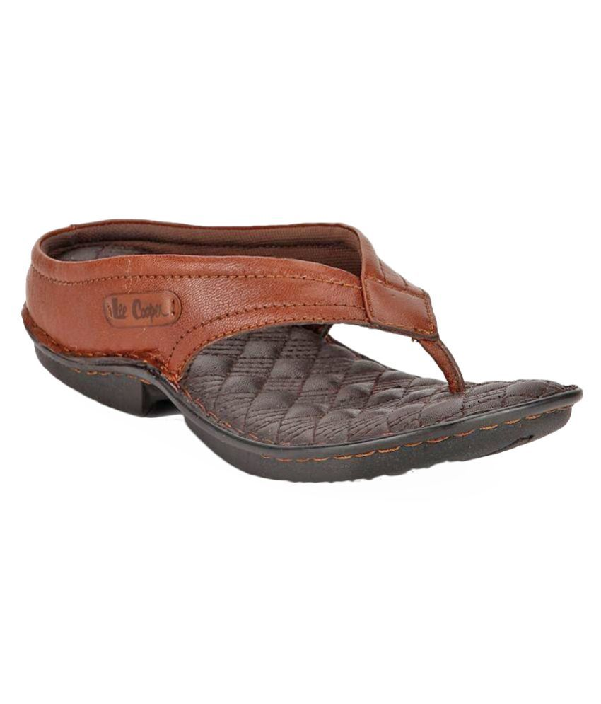 f895c7f0f69b8 Lee Cooper Tan Flip Flops Foe Men Art LC1964TAN Price in India- Buy Lee  Cooper Tan Flip Flops Foe Men Art LC1964TAN Online at Snapdeal