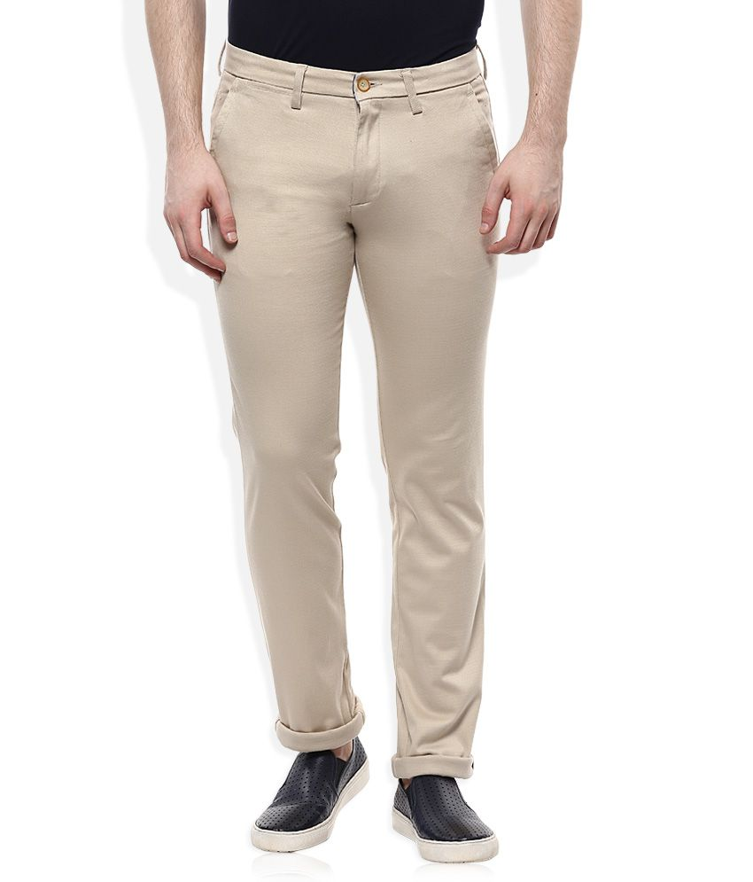 Monte Carlo Beige Regular Fit Chinos