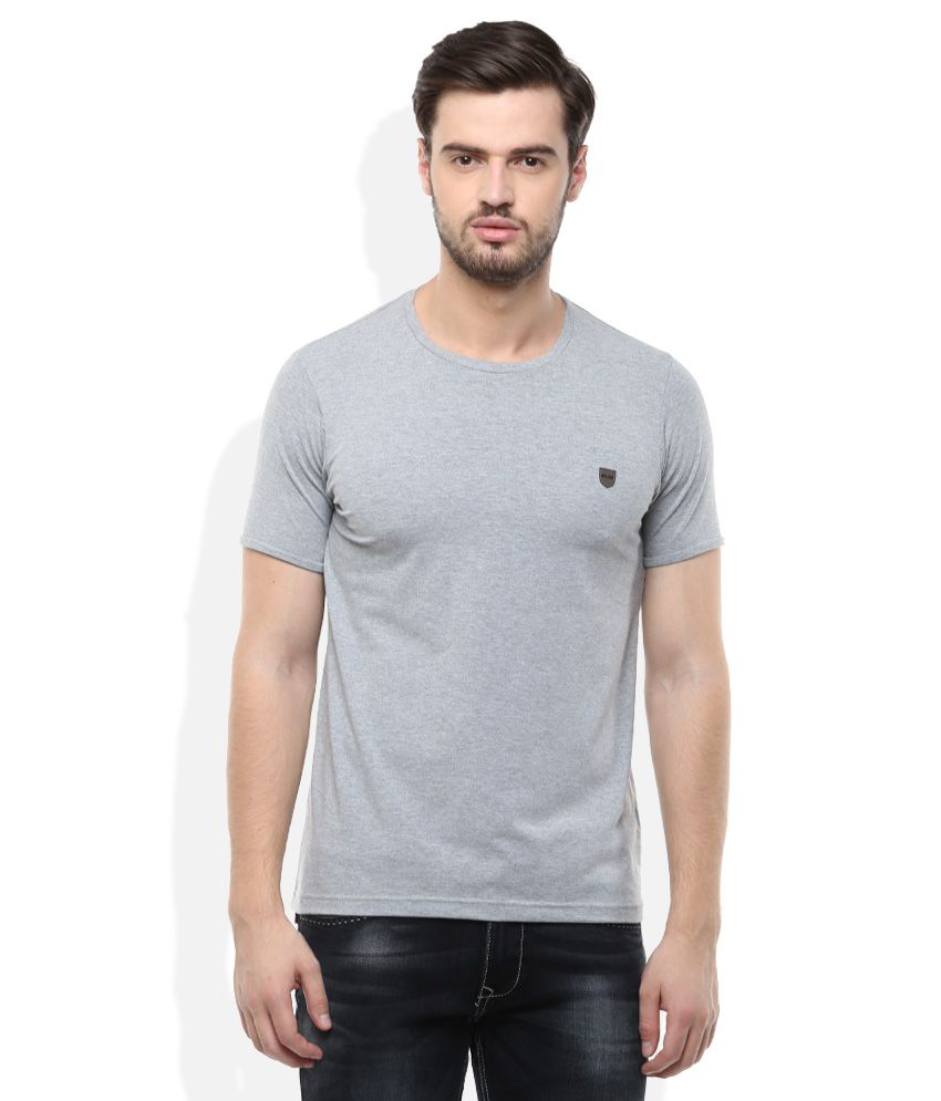 Cloak& Decker By Monte Carlo Grey Round Neck Solid