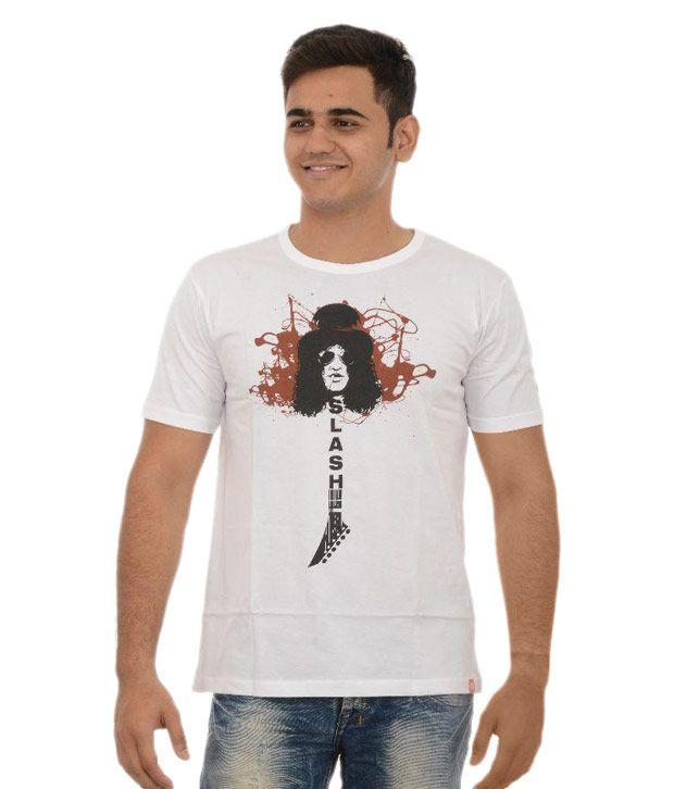 Redrail White Round T Shirt