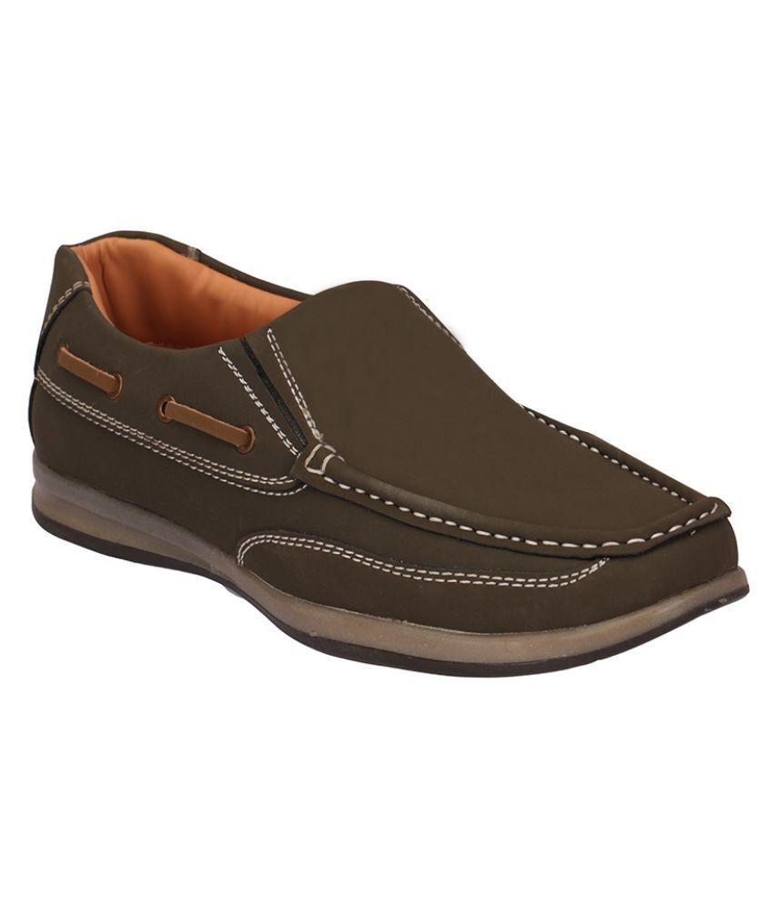 Action Dot Com Brown Canvas Shoes - Buy