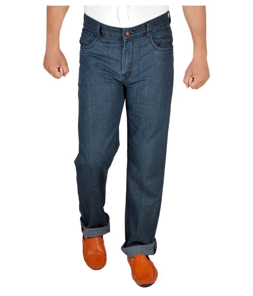 Allen Martin Blue Regular Fit Solid Jeans