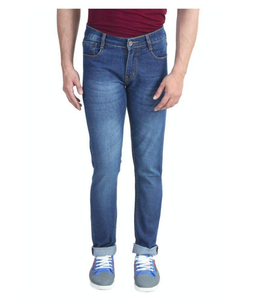 Backside Blue Slim Fit Faded Jeans